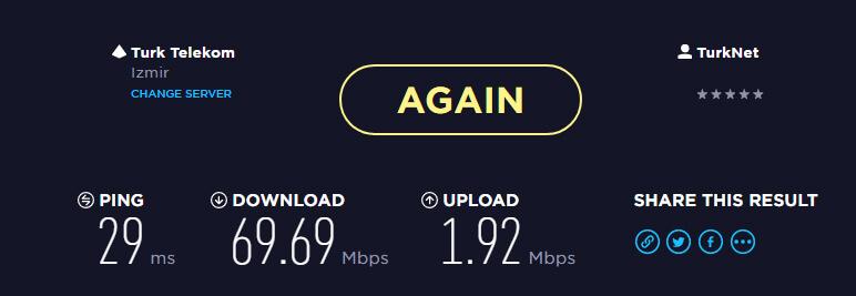 TürkNet İnternet Hızı - TürkNet'e Geçiş